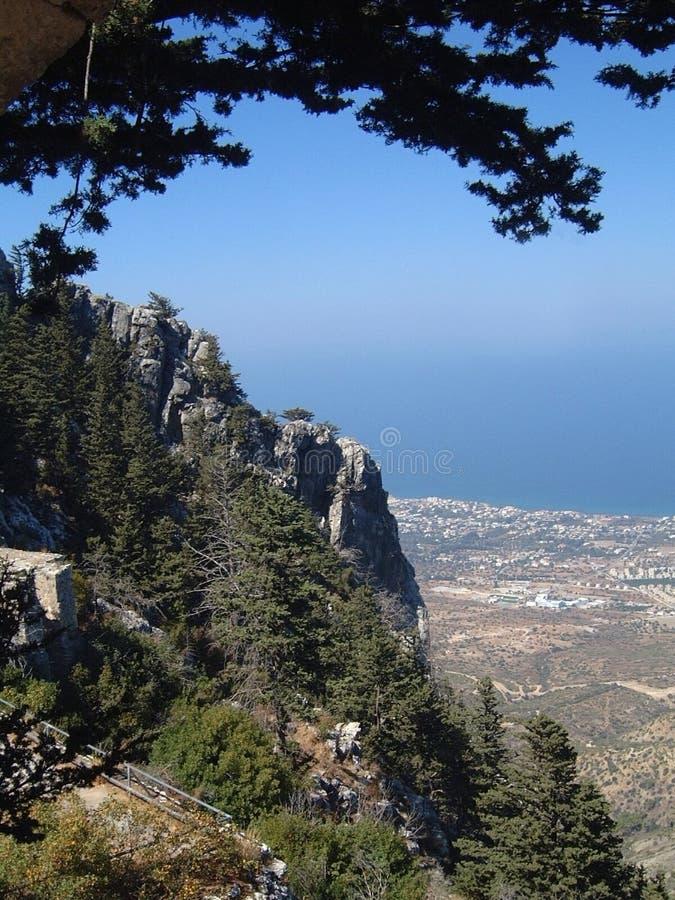 Montagnes Cyrpus de Kyrenia photographie stock libre de droits