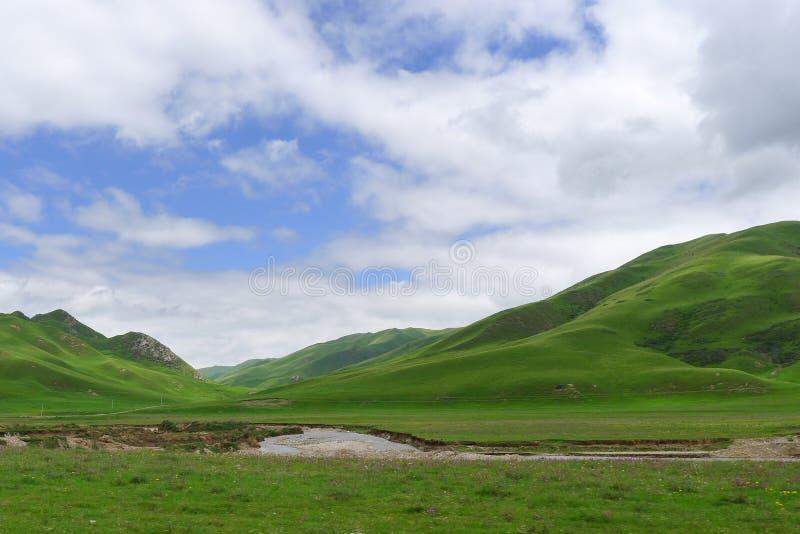 Montagnes d'été sous le ciel bleu photos libres de droits
