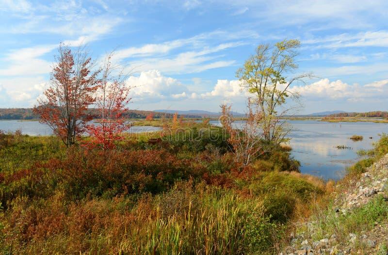 Montagnes d'Adrondack dans l'automne, New York, Etats-Unis image libre de droits
