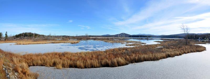 Montagnes d'Adrondack en hiver, New York, Etats-Unis image stock