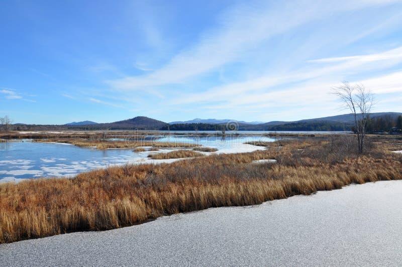 Montagnes d'Adrondack en hiver, New York, Etats-Unis photographie stock libre de droits