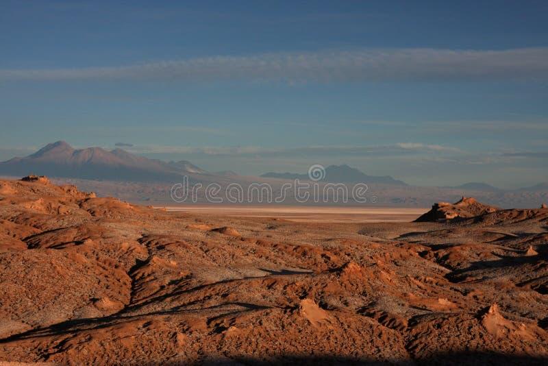 Montagnes d'Atacama au coucher du soleil photos stock