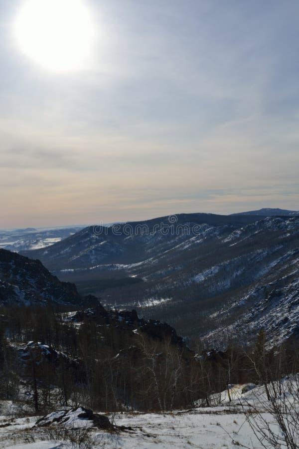 Montagnes d'Ural image libre de droits