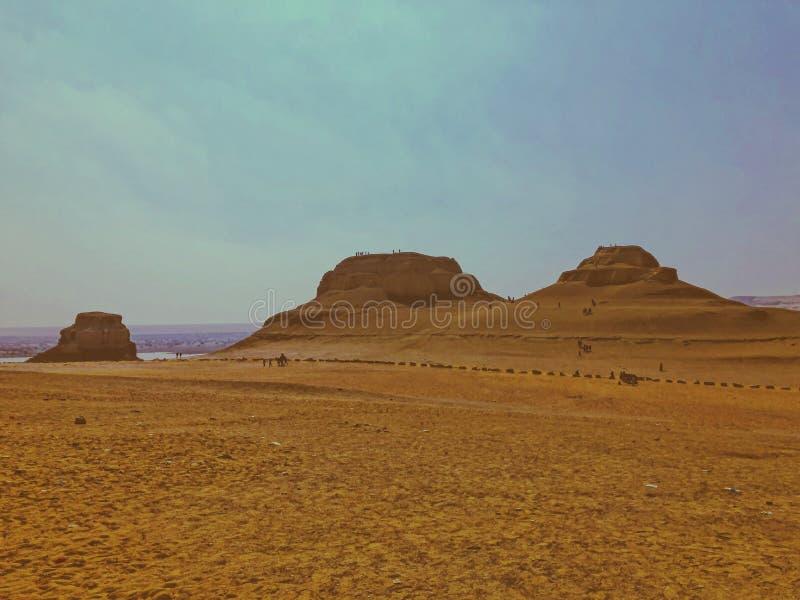 Montagnes dans Alfayoum Egypte photographie stock libre de droits