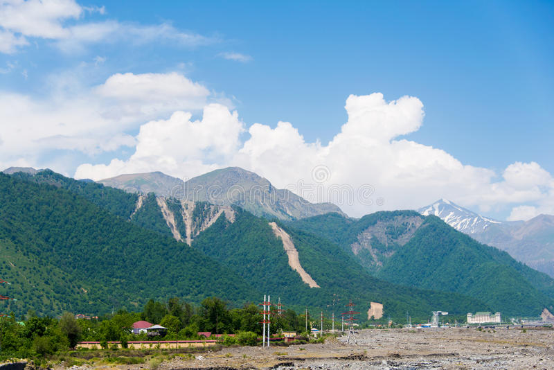 Montagnes dans Gabala photos libres de droits