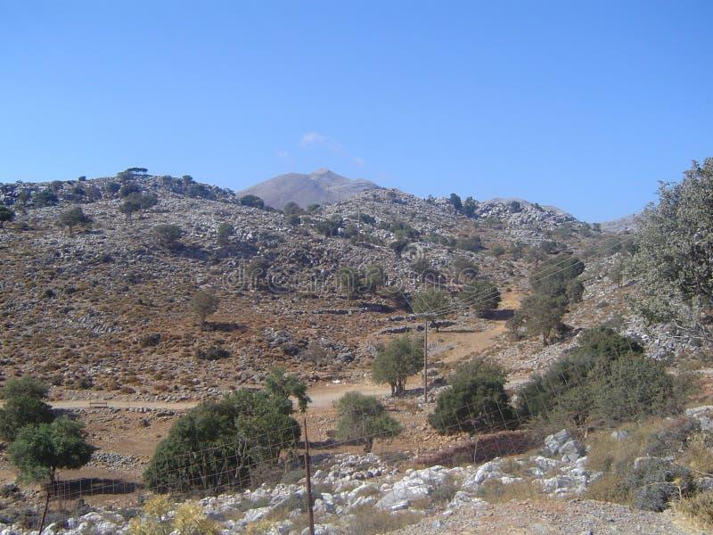 Montagnes dans Kreta photographie stock