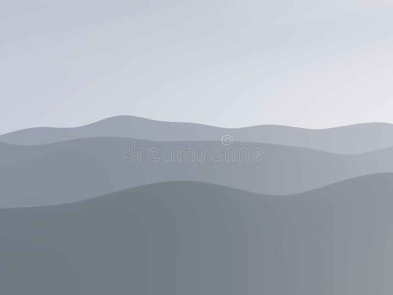 Montagnes dans le regain illustration stock