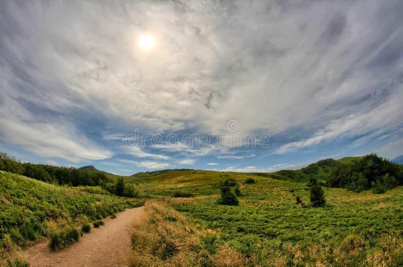 Montagnes de Bieszczady photographie stock libre de droits