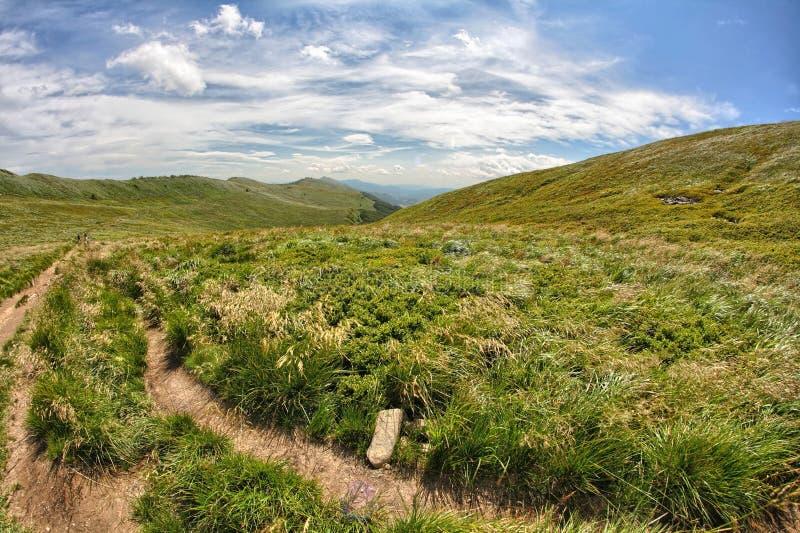 Montagnes de Bieszczady images libres de droits
