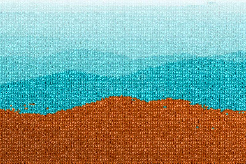 Montagnes de bille de canon illustration de vecteur