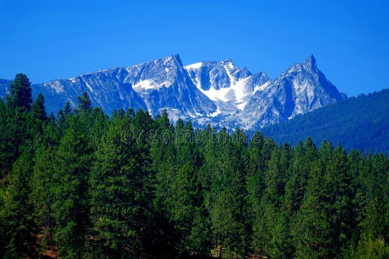 Montagnes de Bitterroot près de Darby, Montana photographie stock