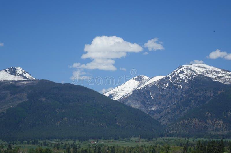 Montagnes de Bitterroot près de Hamilton, Montana photos stock