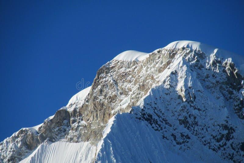 Montagnes de Blanca de Cordillère images stock