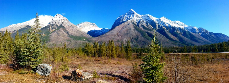 Montagnes de Canada images libres de droits