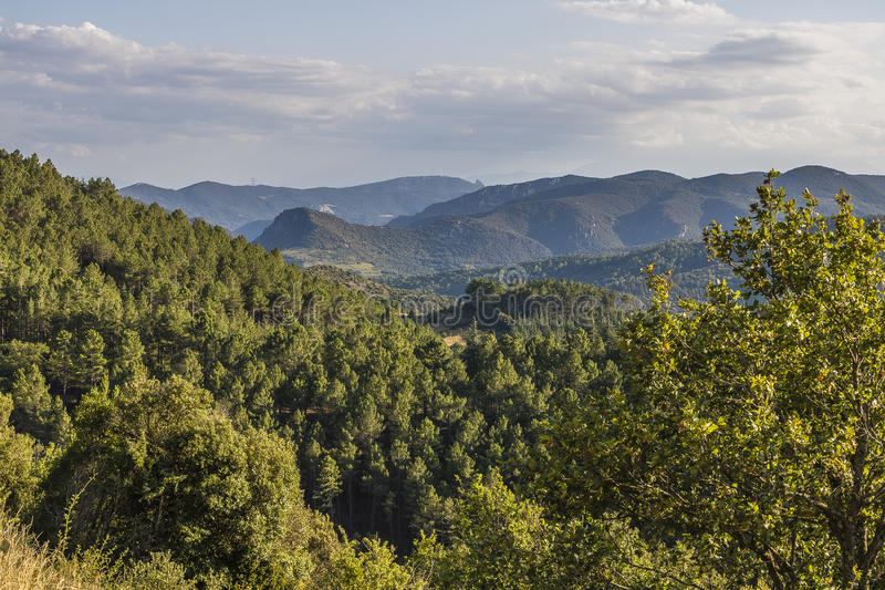 Montagnes de Corbieres, Frances photo stock