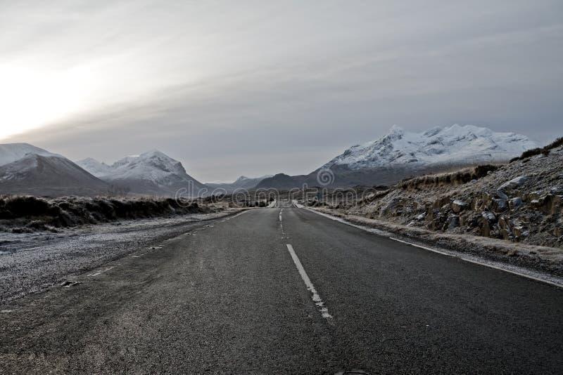 Montagnes de Cullin sur l'île de Skye Ecosse images stock