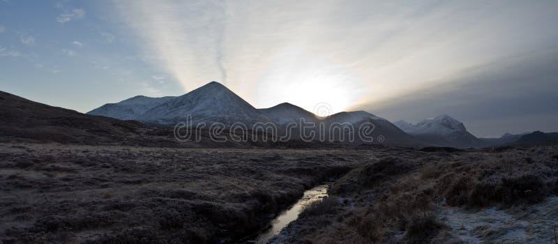 Montagnes de Cullin sur l'île de Skye Ecosse photo stock