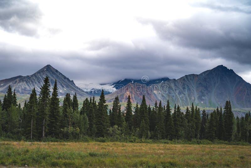 Montagnes de delta en Alaska le long de Richardson Highway au su photos libres de droits