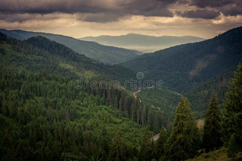 Montagnes de Fagaras images libres de droits