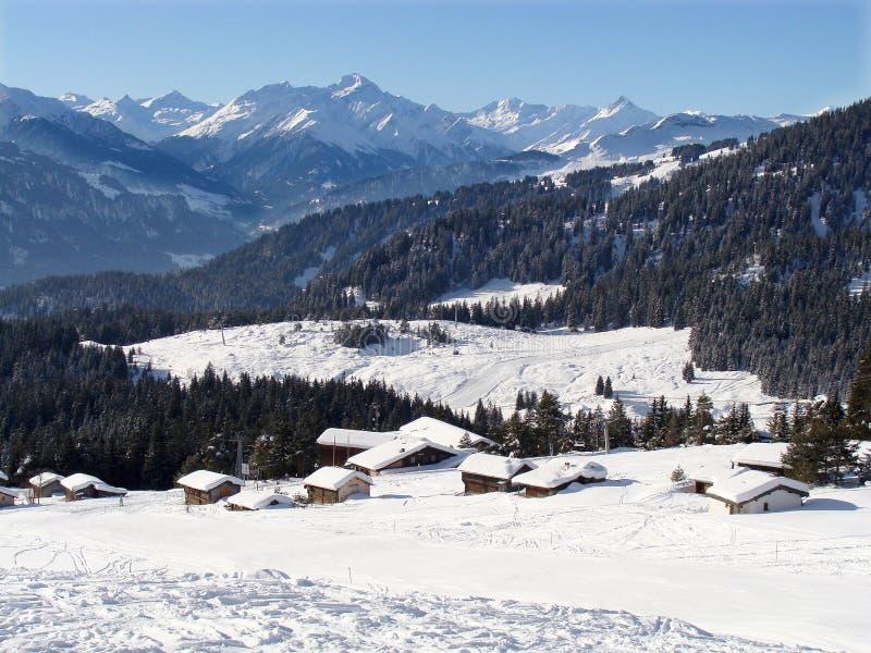 montagnes de flims suisses image stock