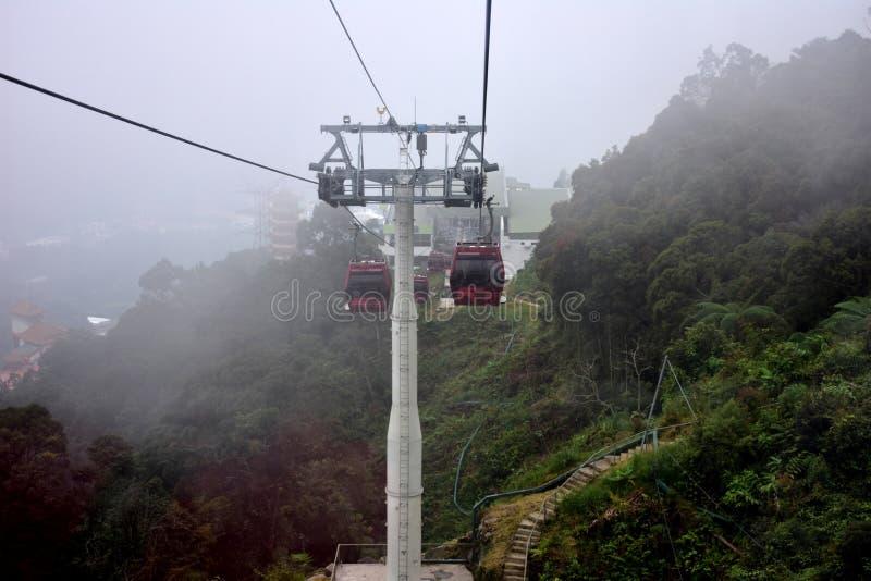 Montagnes de Genting, Malaisie - 2 novembre 2017 : Funiculaire de montagnes de Genting photos stock