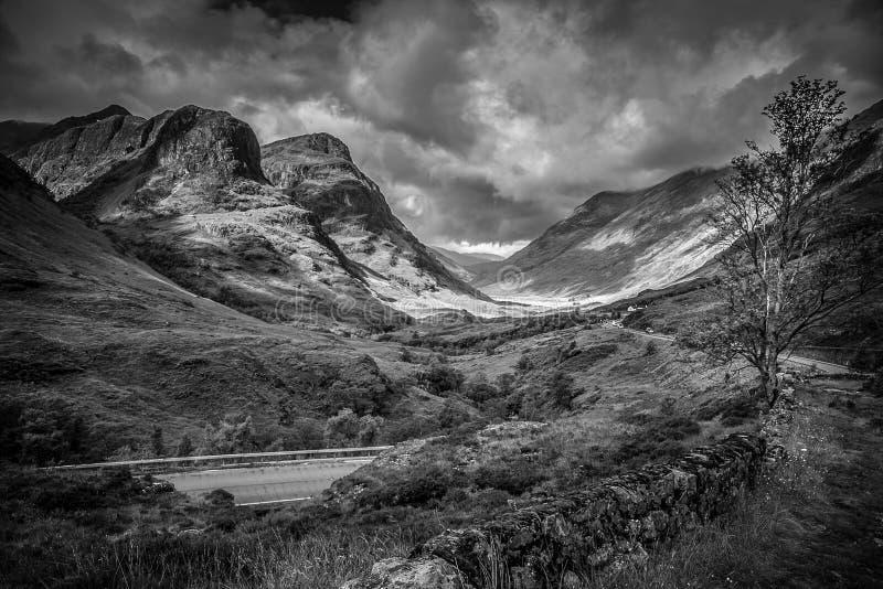 Montagnes de Glencoe photo stock