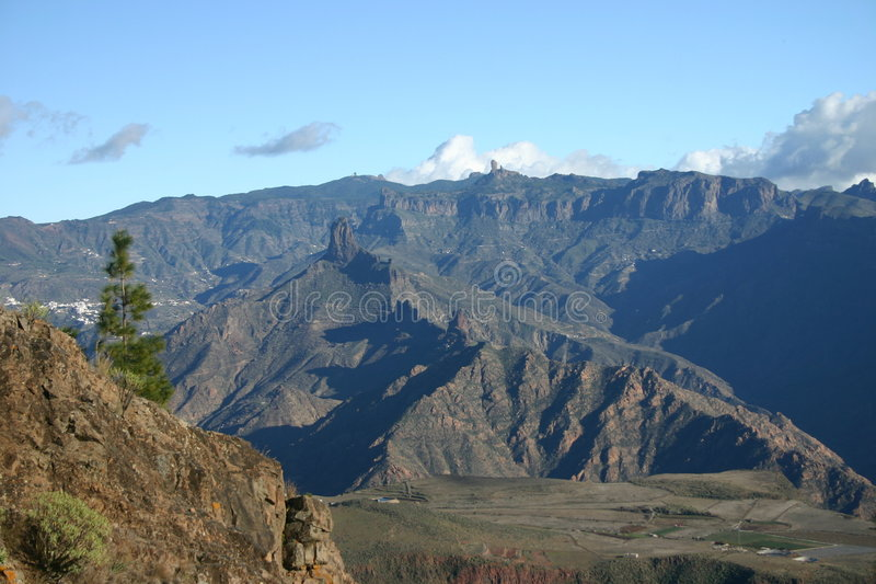 Montagnes de Gran Canaria photos libres de droits