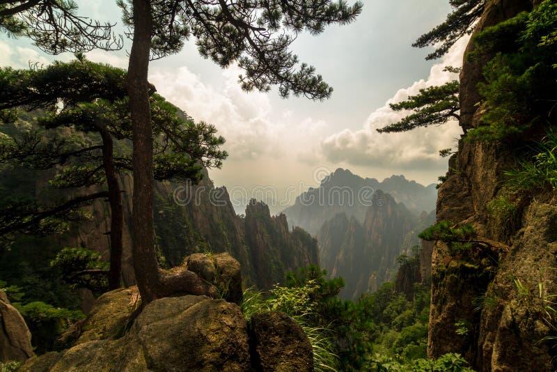 Montagnes de Huangshan, Chine images libres de droits