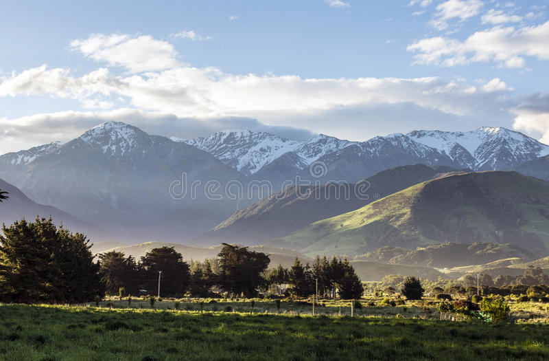 Montagnes de Kaikoura images libres de droits