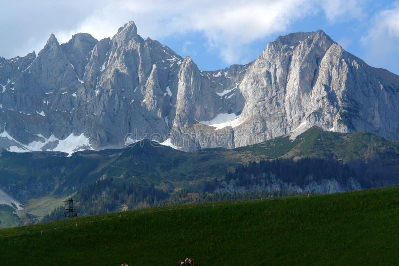 Montagnes de Kaiser image libre de droits