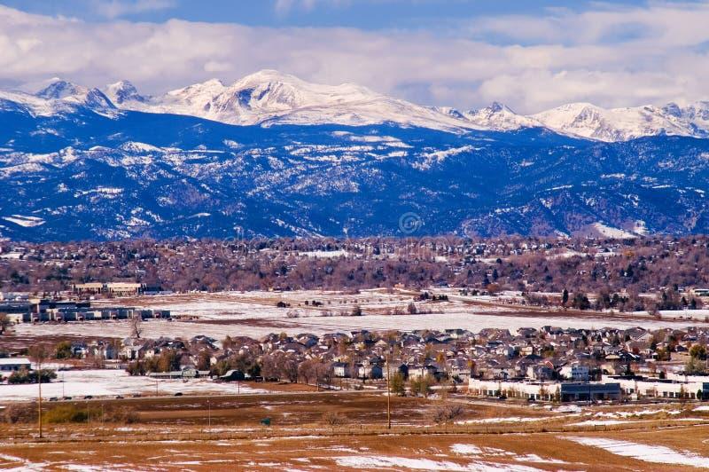 Montagnes de l'hiver du Colorado photos stock