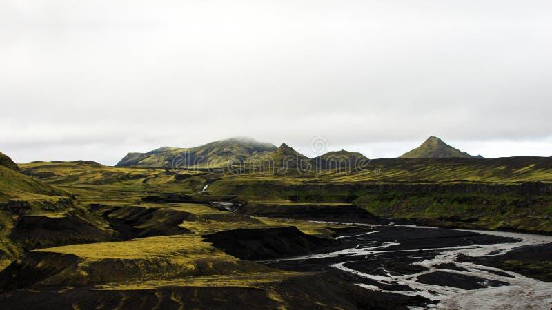 Montagnes de l'Islande image stock