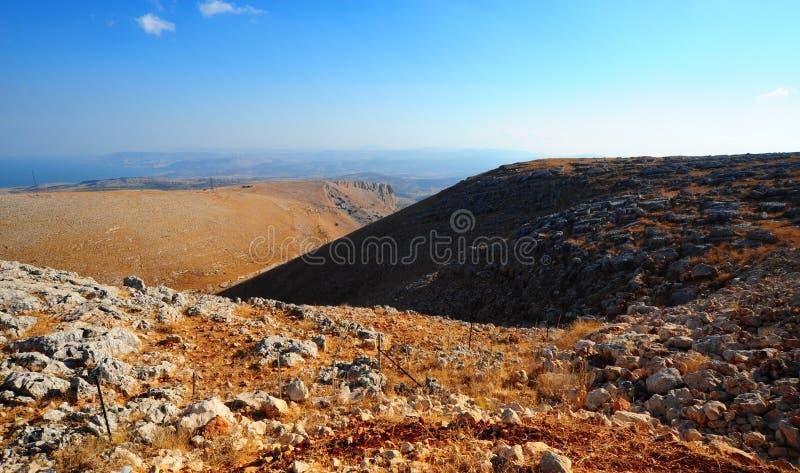 Montagnes de la Galilée images stock