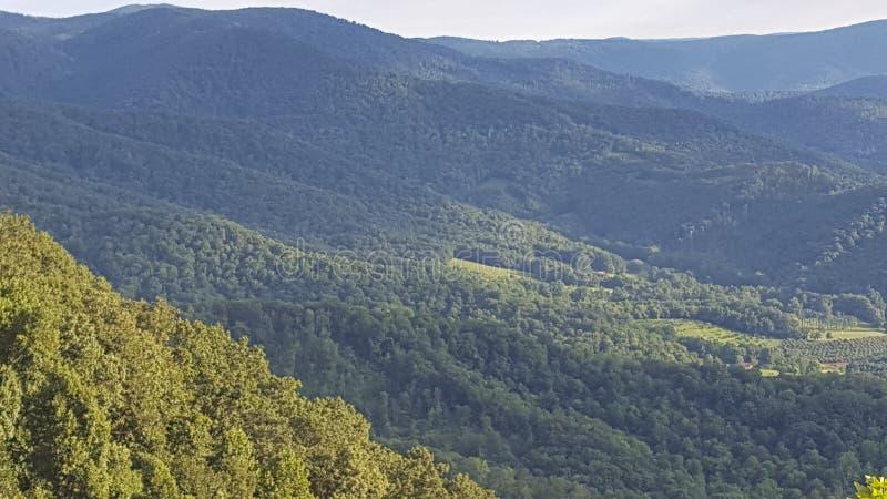 Montagnes de Lexington la Virginie photographie stock libre de droits