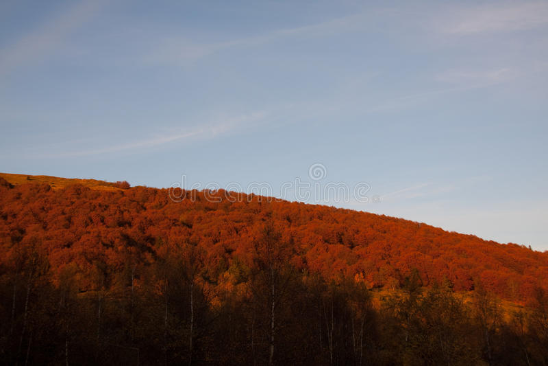 Montagnes de loup, relais de ³ de gà de wilcze, bieszczady, automne image libre de droits