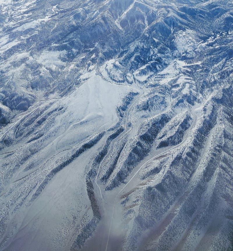 Montagnes de Milou aériennes photo stock