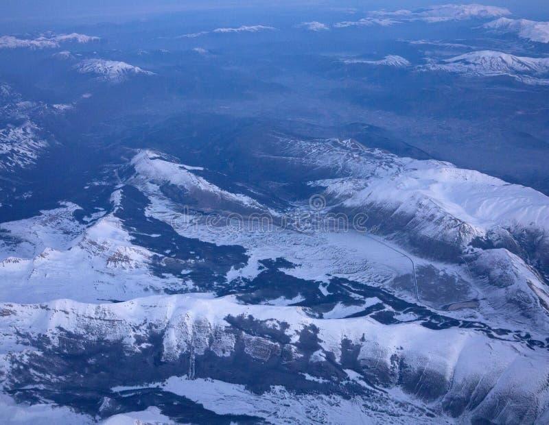 Montagnes de Milou d'en haut photos stock