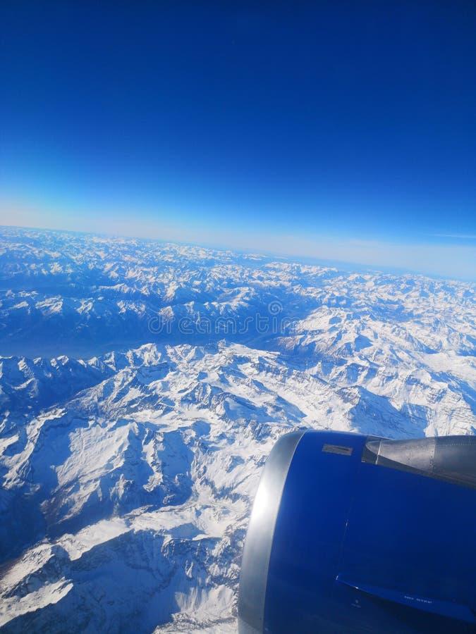 Montagnes de Milou en France dans l'avion photographie stock