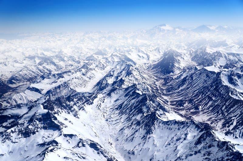Montagnes de neige image libre de droits