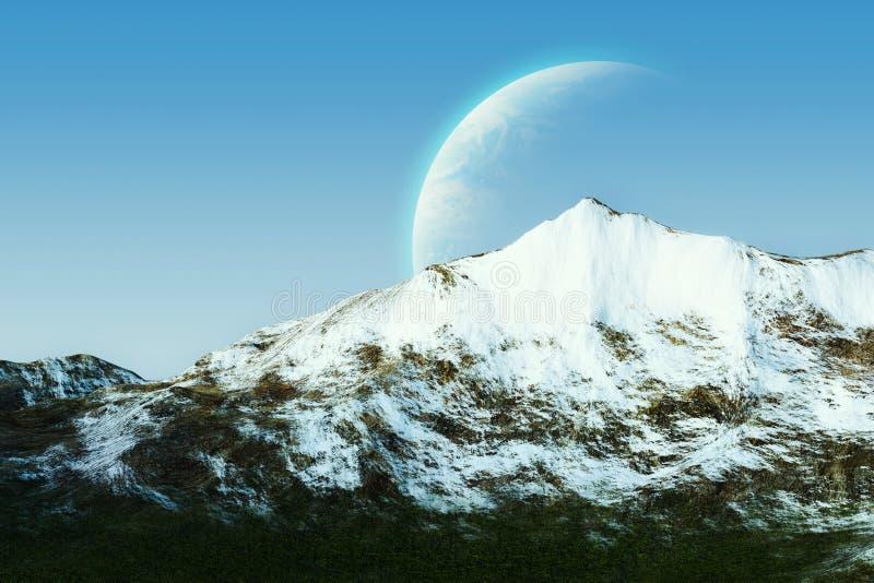 Montagnes de neige image stock