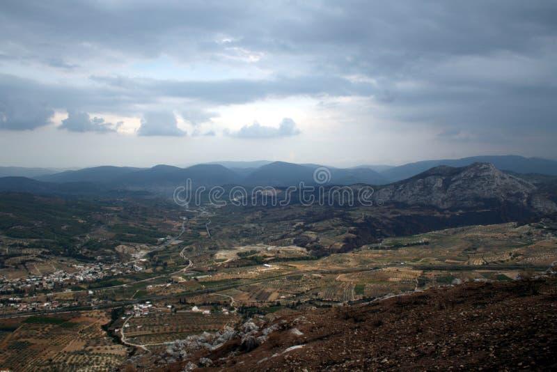 Montagnes de Peloponnesse photos libres de droits