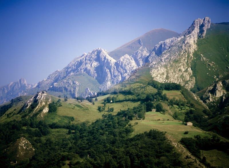 Montagnes de Picos de europa images libres de droits