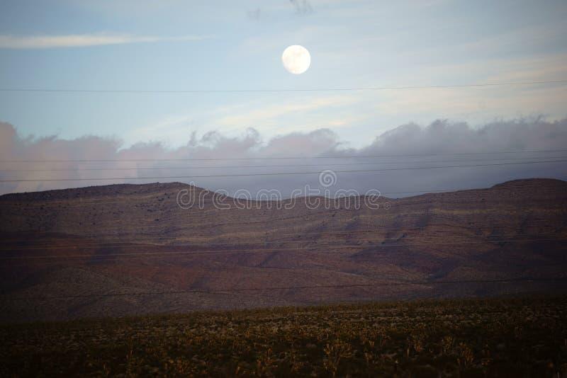 montagnes de pleine lune plus de photographie stock libre de droits