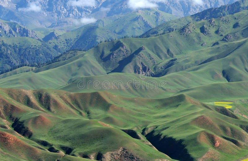 Montagnes de Qilian photo stock