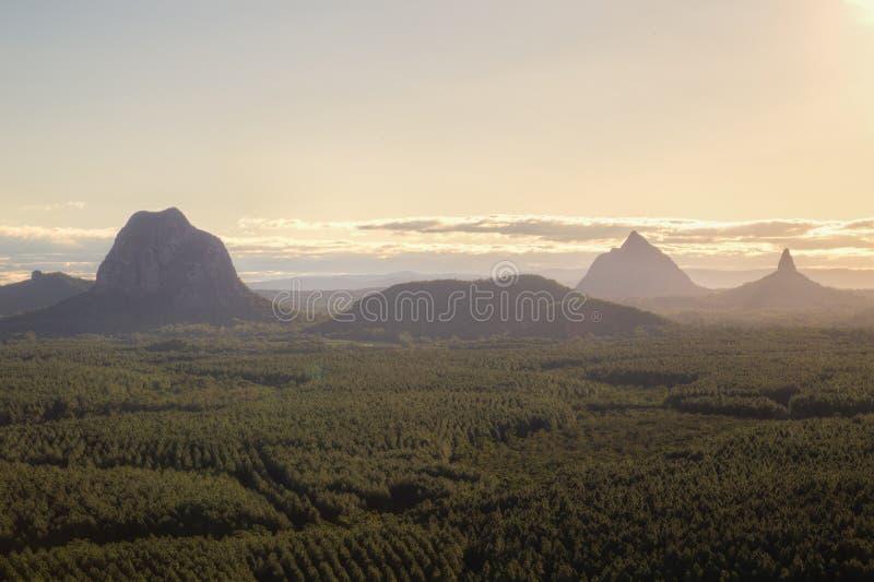 Montagnes de serre au Queensland, Australie photo stock