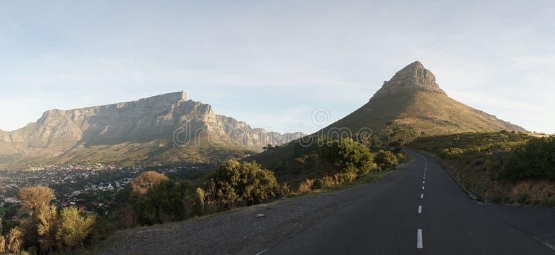 Montagnes de Tableau de Cape Town en Afrique du Sud photographie stock libre de droits