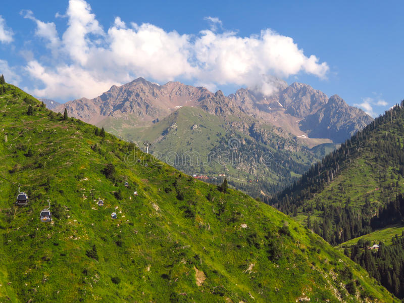 Montagnes de Tian Shan photos stock