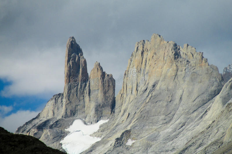 Montagnes de Torres del paine photos stock