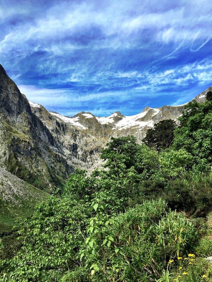 Montagnes de voie de Milford images stock