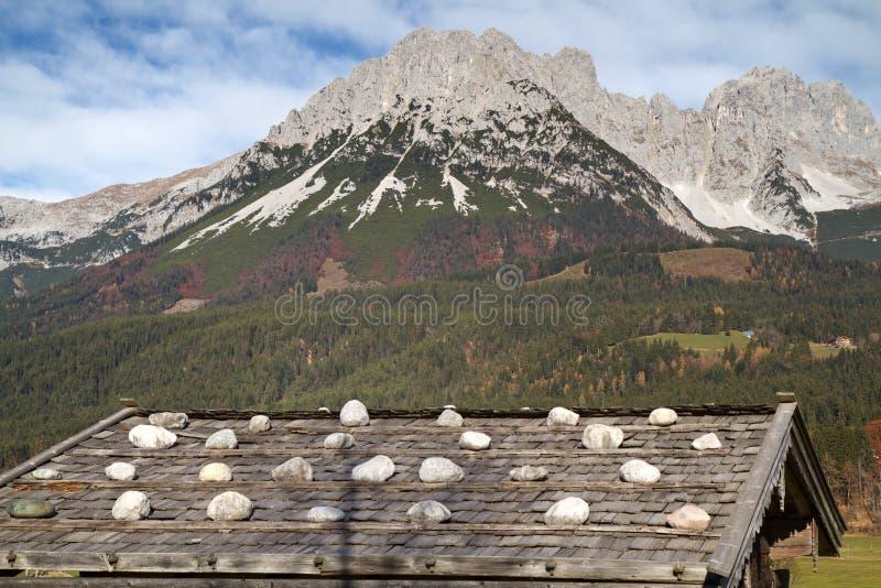 Montagnes de Zahmer Kaiser, Autriche photographie stock libre de droits